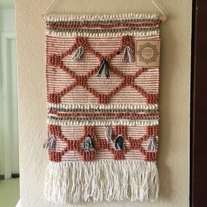 NWT Hanging Woven Wall Decor